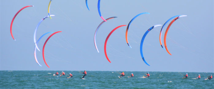 Photo d'un cours de Kitesurf