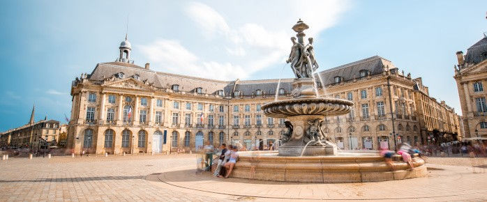 Photo de la Place de la Bourse à Bordeaux en Aquitaine